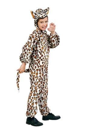 Leopard Plush Children's Costume-0