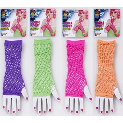 Double Fishnet Gloves-0