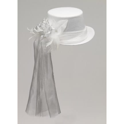 Ghostly Rose Top Hat-0