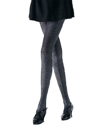 Black with Silver Glitter Lurex Tights-0