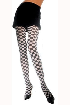 Adult Checkered Pantyhose-0