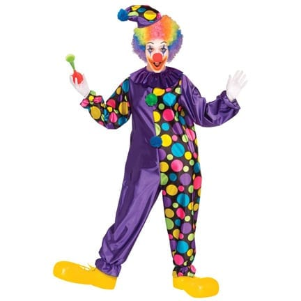 Purple Polka Dot Clown-0