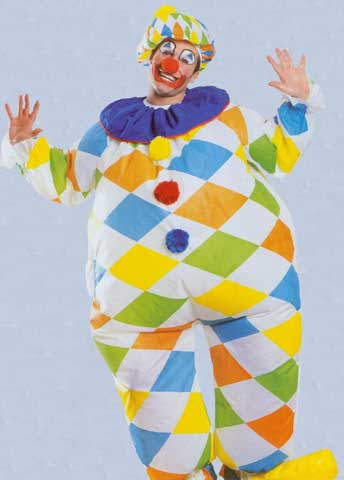 Inflatable Clown Adult Costume-0