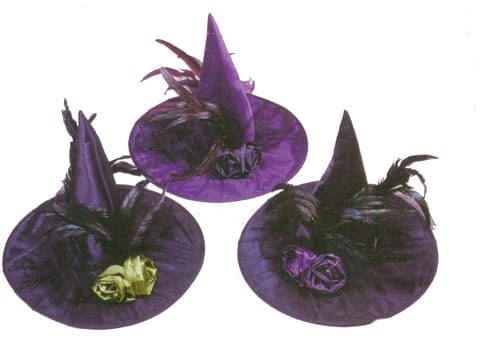 Fancy Feather Witch Hat-0