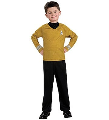Star Trek Movie Captain Kirk Kids Shirt-0
