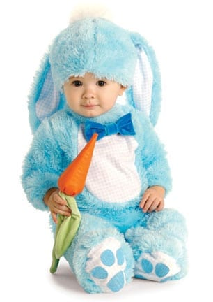 Blue Bunny with Carrot Rattle-0