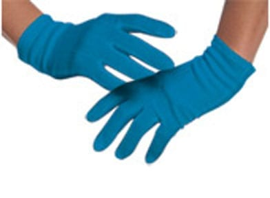 Lady Gaga Blue Gloves-0