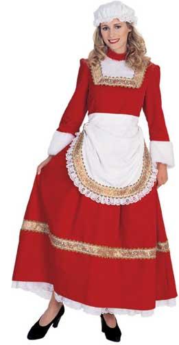 Classic Mrs. Claus Adult Costume-0