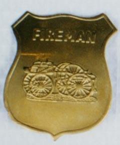 Fireman Badge - Gold-0