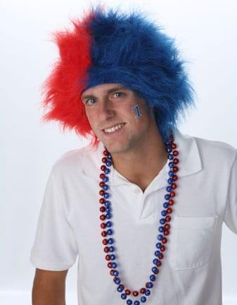 Red/Royal Blue Spirit Wig-0