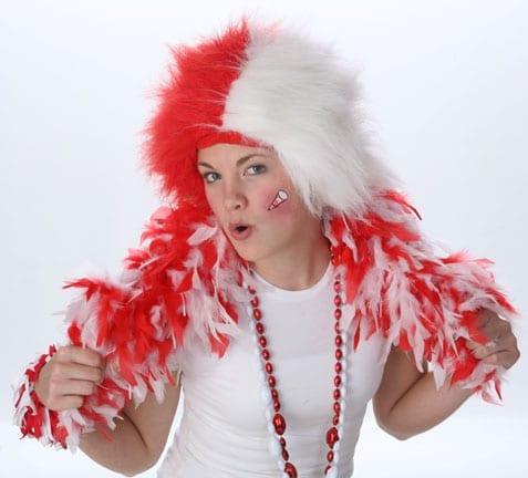Red/White Spirit Wig-0