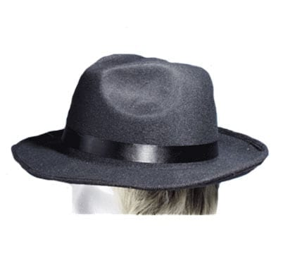 Black Velour Fedora Hat-0