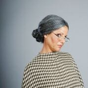 Old Lady Bun Wig-0