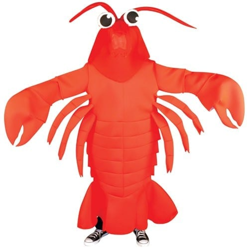 Lobster Waver Mascot Costume-0