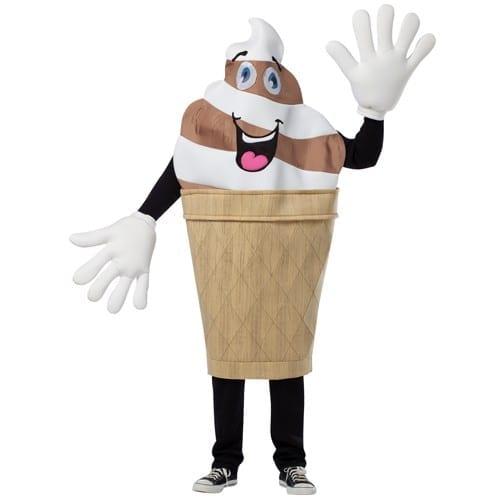 Ice Cream Cone Mascot Waver Costume-0
