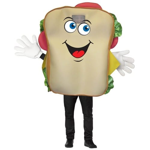 Sandwich Waver Mascot Costume-0