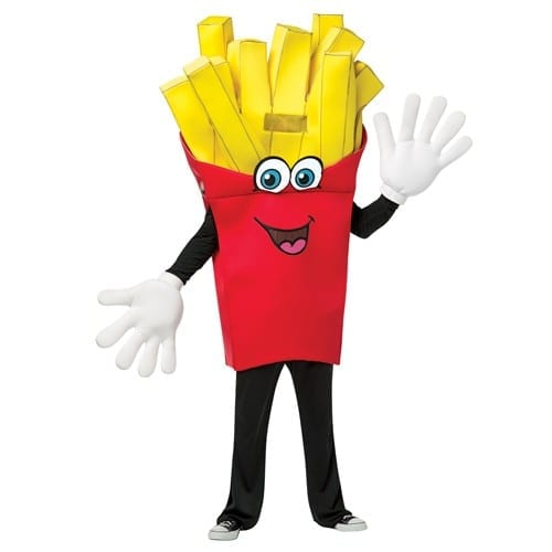 French Fries Waver Mascot Costume-0