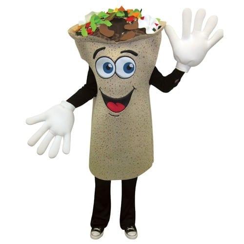 Burrito Waver Mascot Costume-0