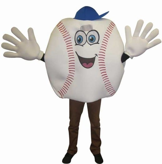 Baseball Waver Mascot Costume-0