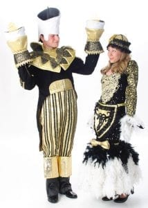 Lumiere and his main squeeze, Babette as enchanted objects.