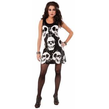 Sequin Skull Dress-0