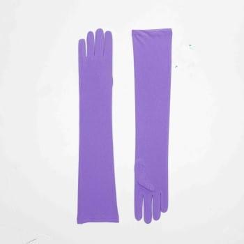 Long Nylon Purple Gloves-0