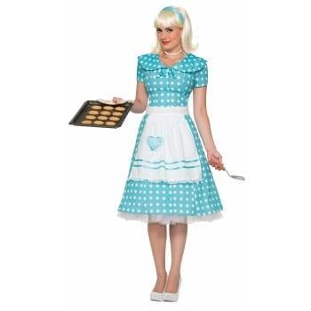 Adult Ladies 1950s Housewife Costume-0