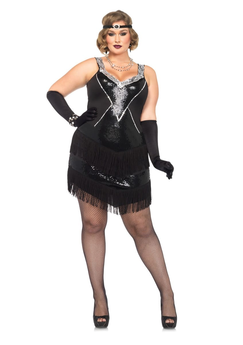 Glamour Flapper Plus Size Costume-0