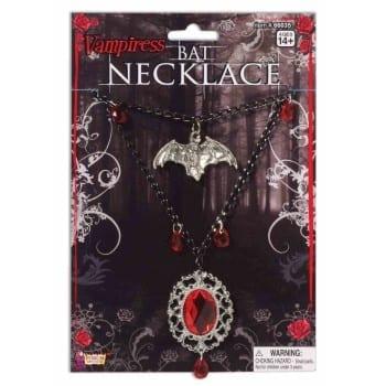 Vampiress Bat Necklace-0