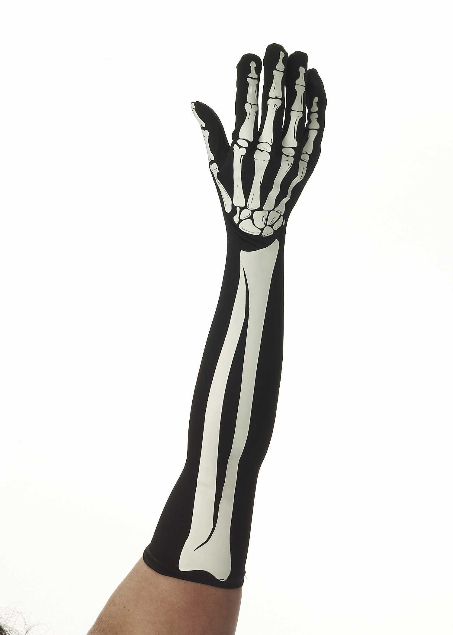 Long Skeleton Gloves-0
