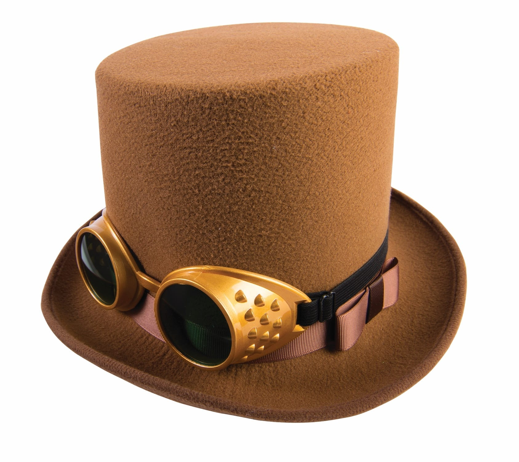 Brown Steampunk Hat with Goggles-0