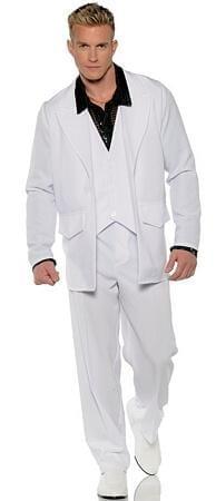 Men's White Hustle - Disco Costume -0