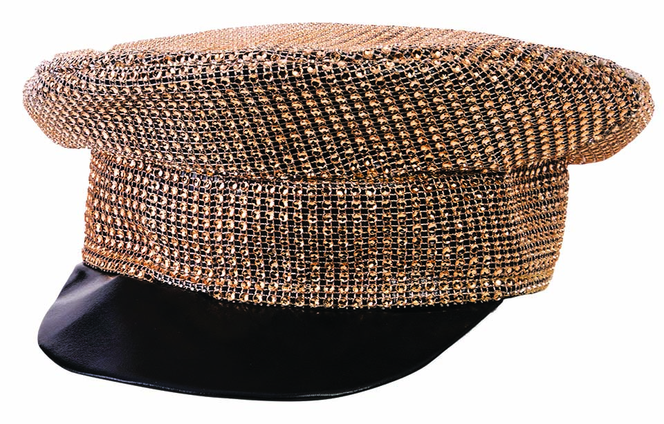 Disco or 80's Gold Sequin Hat -0