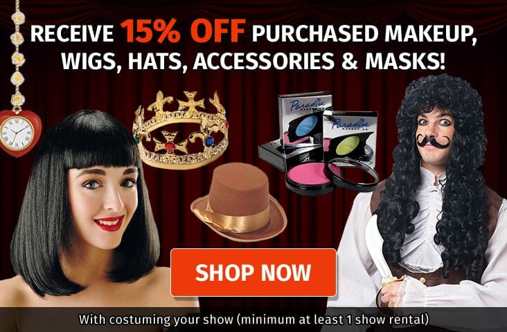 15% off Accessories with your theatre rental pacakge