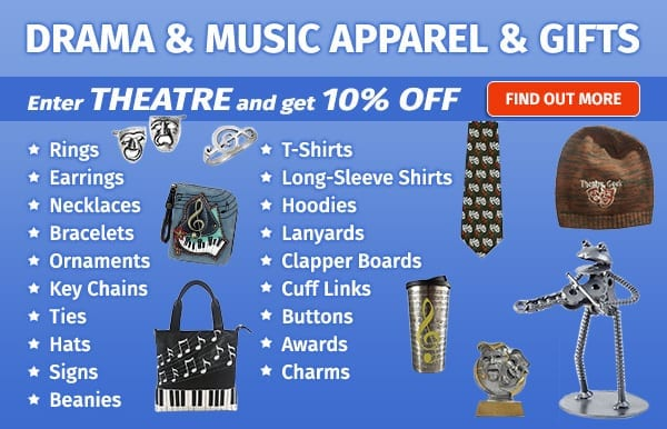 Save on Buy Drama Gear with promo code Theatre