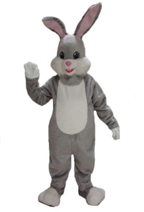 Grey Rabbit Mascot-0