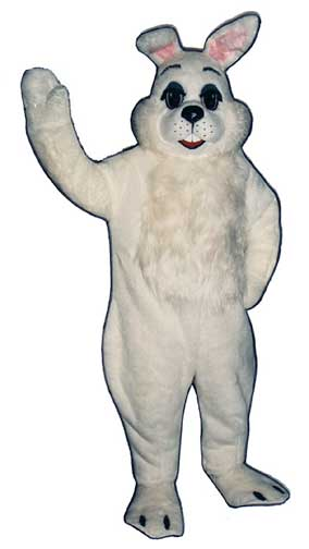 Easter Bunny Mascot Costume-0