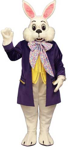 Wendell with Purple Jacket Mascot Bunny Costume-0
