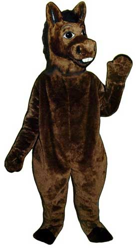 Brown Donkey Mascot Costume-0
