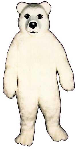 Realistic Polar Bear Mascot Costume-0