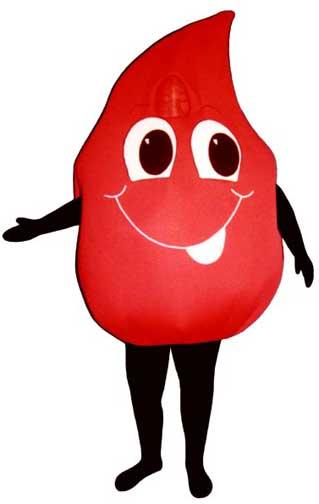 Blood Drop Mascot Costume-0
