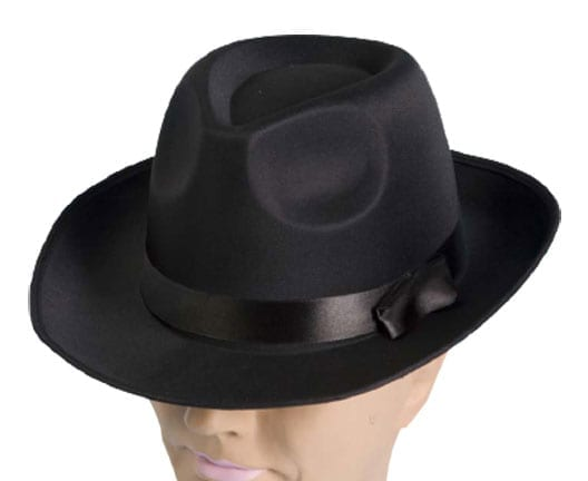 Black Satin Fedora-0