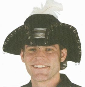 Pirate Hat with Metal Trim-0